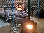 yurt with stove